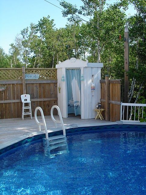 Changing Room Pools And Above Ground Pool On Pinterest
