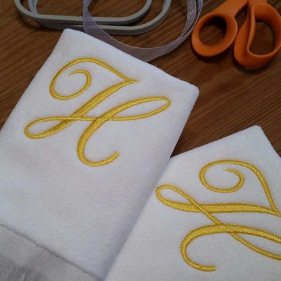 Love the color combination on these Single Initial Monogram Fingertip Towels!   StitchedByAnnemarie.etsy.com https://www.etsy.com/listing/239655080/single-initial-monogram-fingertip-towel?ref=shop_home_active_1