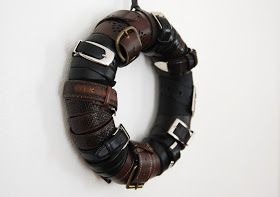 Jill Ruth & Co.: Up-cycled Belt Wreath and Tutorial