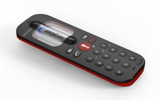 デザインも美しい、緊急通話のみ可能な電話。最大15年保管可能。
