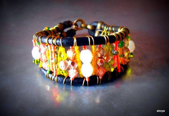 Sunny  bracelet by AkoyaBozenaKorwat on Etsy