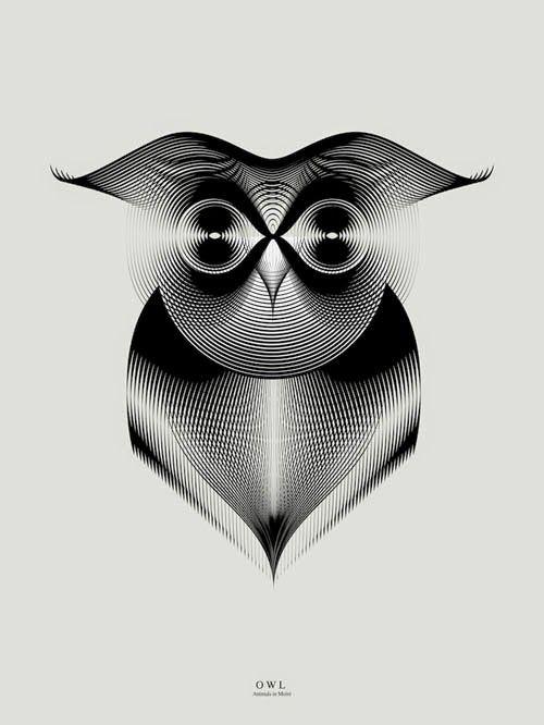 """坂井直樹の""""デザインの深読み"""": gifではないが動いているように見えるグラフィックは、モアレパターンで巧みに描かれたコアラなどの動物。"""