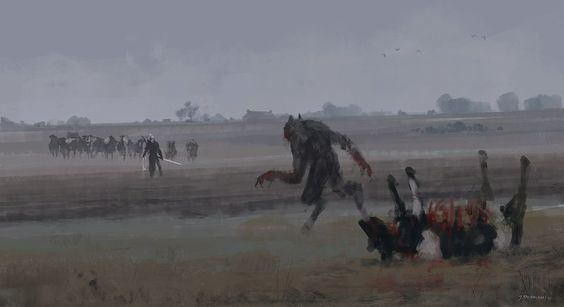 'just another day at work… Lycan' quick sketch, cheers!