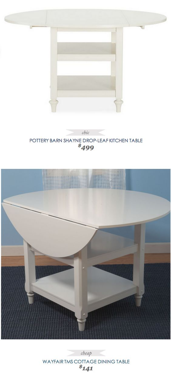 Pottery barn shayne drop leaf kitchen table 499 vs for Barn style kitchen table