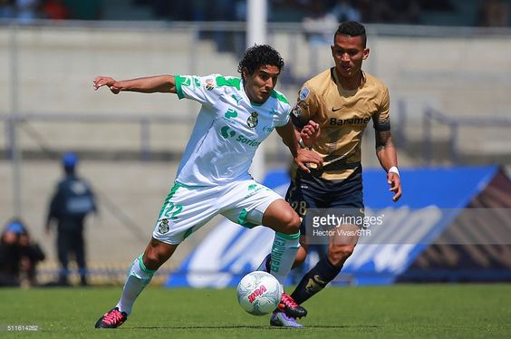 Pumas UNAM vs Santos Laguna Torneo de Clausura / Temporada 2015-2016 Domingo, 21 de Febrero de 2016 / Martin Bravo