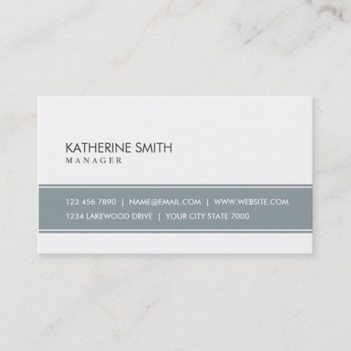 Elegant Professional Plain Simple Gray And White Business Card Zazzle Com White Business Card Elegant Business Cards Business Cards Elegant