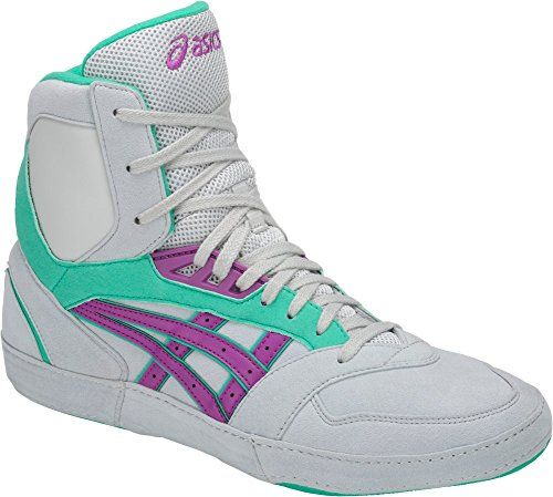 purple asics wrestling shoes