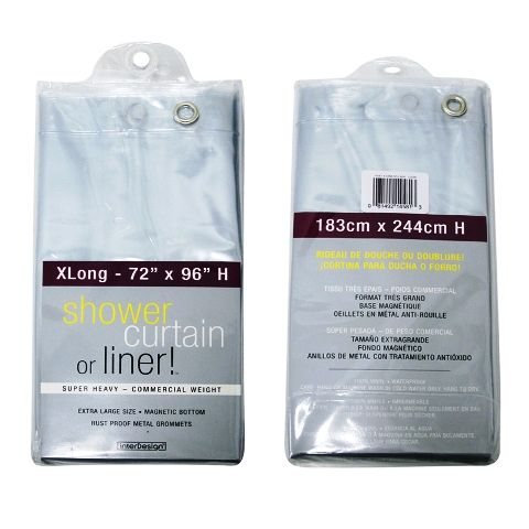 Extra Long Shower Curtain Liner (96