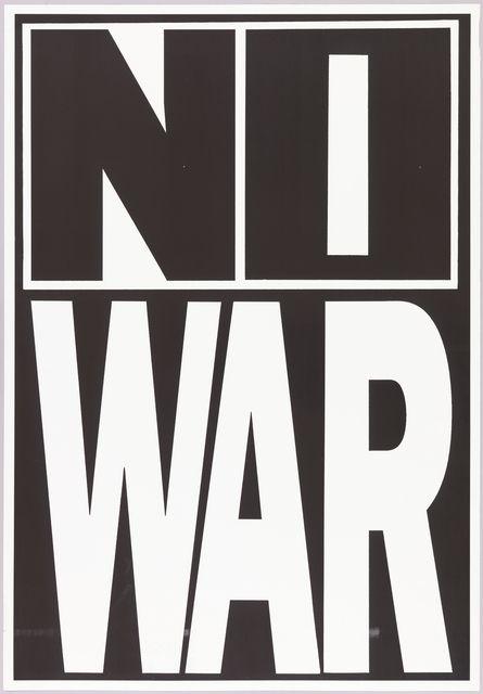 Poster, No War, ca. 1980
