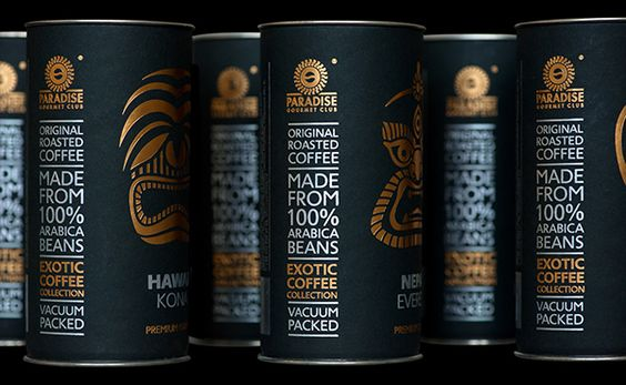 Exotic Coffee Collection by Paradise. Gourmet-club™ on Behance