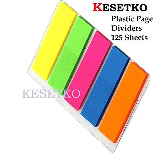 Kesetko 125 Sheet Plastic Flags Sticky Page Dividers Size 4 5cm X 12mm Each Multicolor For Offices Homes Schools Index Tabs And Tab Inserts Labels In Page Dividers Index Dividers Sheets