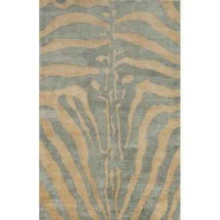Ice Contemporary Animal Print Rug by Momeni Serengeti in 8'x11'