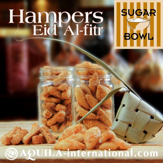 Share the happiness of Eid Al-Fitr with finest #gift selections for #families, #friends, and business #partners prepared by #SugarBowl. Mix and match ten items from our homemade selection of mouth-watering #pastries, #cakes and #cookies to fit into one fabulous hampers and receive 10% discount*! (*Terms and conditions apply).  For more information and order, please contact Sugar Bowl at (62-22) 203 9280 ext. 1603.