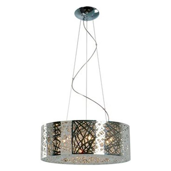 Inca 9 light pendant in polished chrome nebraska furniture mart