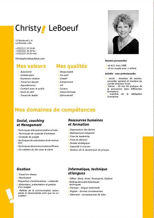Cv Formateur Coach Modele Cv Gratuit Word Modèle Cv Et