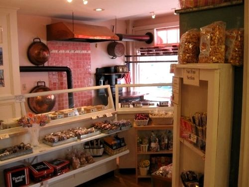 chatham candy manor - my first job, still love the decor, and I can still smell the chocolate.