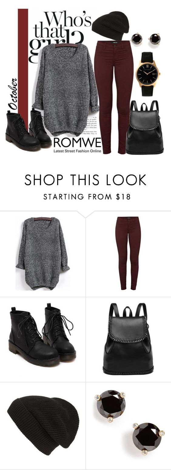 """""""ROMWE- SWEATER"""" by smsofia ❤ liked on Polyvore featuring J Brand, Phase 3, Kate Spade and Larsson & Jennings"""