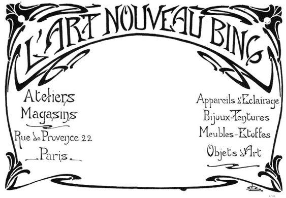 Advertisememt for L'Art Nouveau Bing