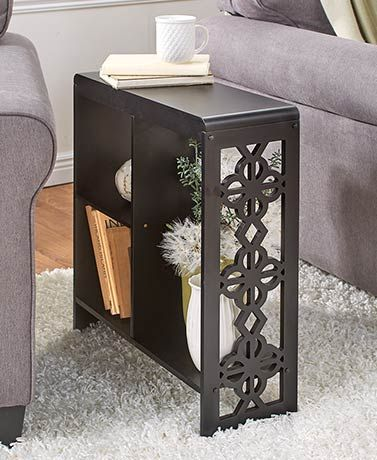 Slim Side Table With Drawer