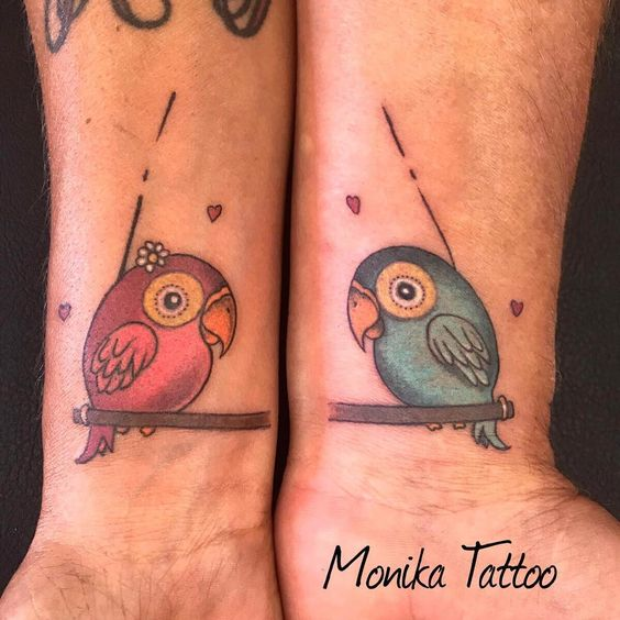 #matchingtattoos #matchingtats #matchingtattoo #malefemalefriendship #malefemalefashion #colortattoo #colortattoos #colortattooartist #tattoo #tatted #tatouage #tattoosofinsta #tattoooftheday #friendshiptattoo