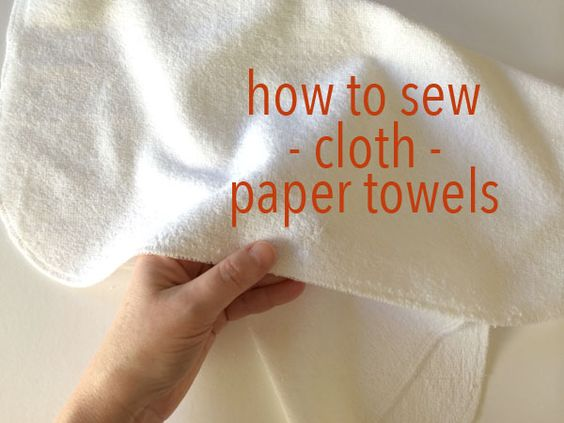Want to do something good for your wallet and the planet? Sew your own cloth paper towels! Learn four different ways to sew up your very own!