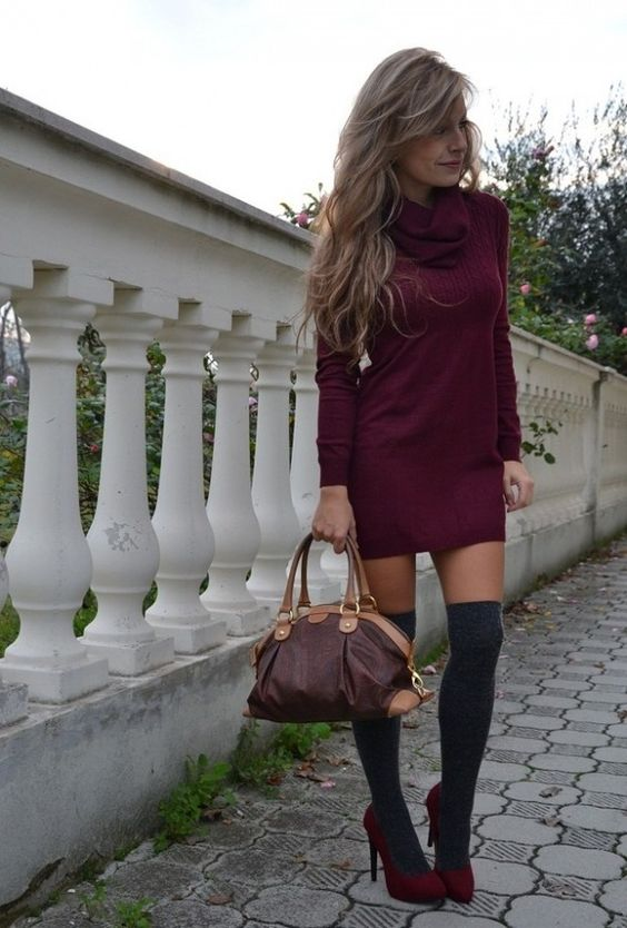 Summer dress knee high boots gallery