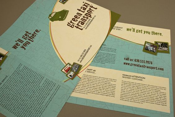Taxi Transport Brochure Template Graphic Design Flyers - flyers and brochures templates
