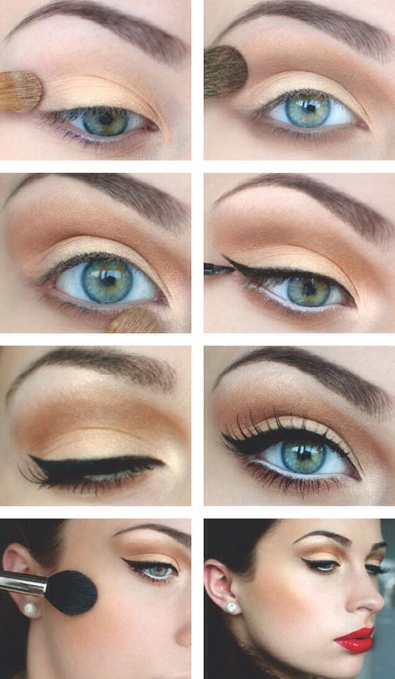 Love this for a 50s costume makeup!