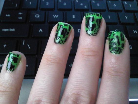Green with Black Crackle