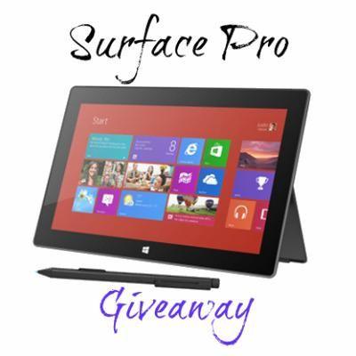 Surface Pro Giveaway Sign Up - http://theluckyladybug.net/2013/04/06/surface-pro/