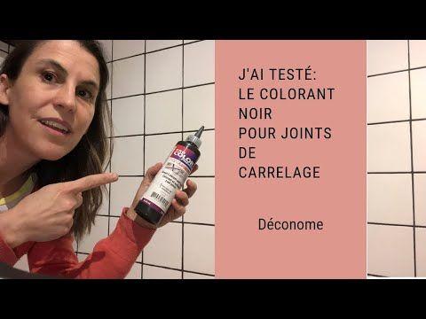 J Ai Teste Dans Ma Douche Le Colorant Noir Pour Joints De Carrelage Youtube Joint De Carrelage Peinture Joint Carrelage Carrelage