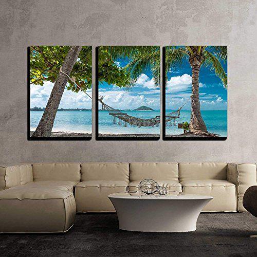 Huge 3d Window Wall Art Sticker Tropical Beach Decal Vinyl