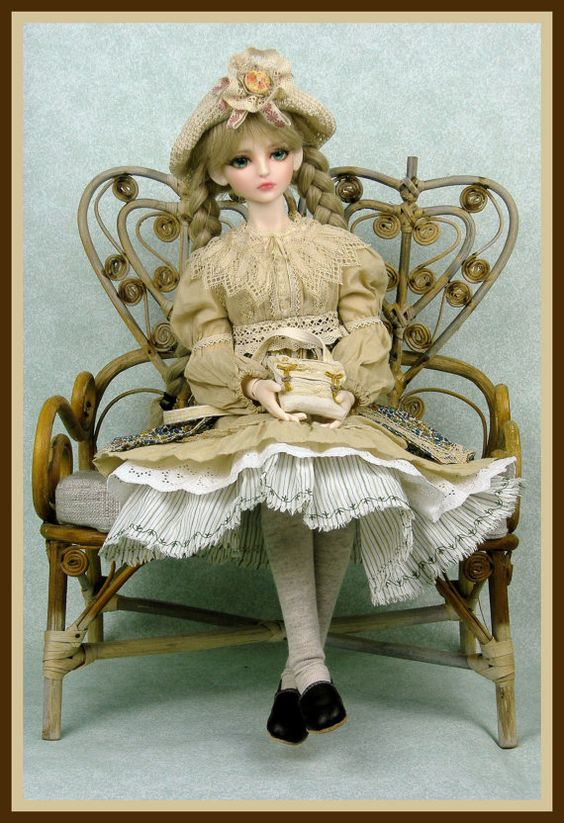 Mori girl style outfit for  57cm  BJD
