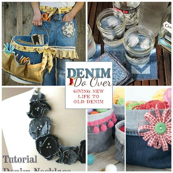 Old jeans projects and fun projects on pinterest for Denim craft projects