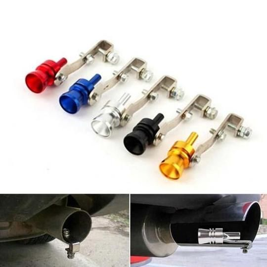 Car Whistle Turbine Whistle Exhaust Pipe Speaker Modified for Automobile Turbine Car Accessories Black, M
