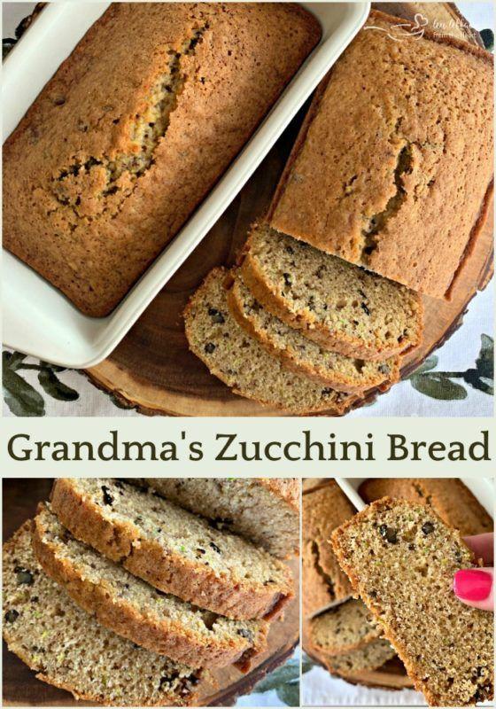 Grandma S Zucchini Bread Recipe Zucchini Bread Dessert Bread