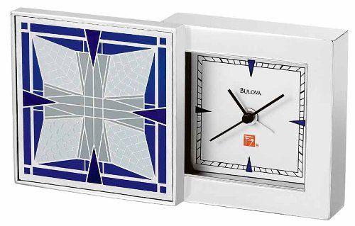 Bulova Frank Lloyd Wright Thomas House Table Top Clock  B7759 *** For more information, visit image link.