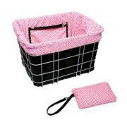 Electra Basket Liner Black/Pink Mosaic