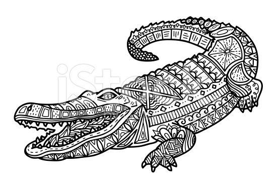Crocodile on pinterest - Crocodile dessin ...