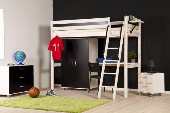 Hoogslaper met kast en bureau bedroom ideas met