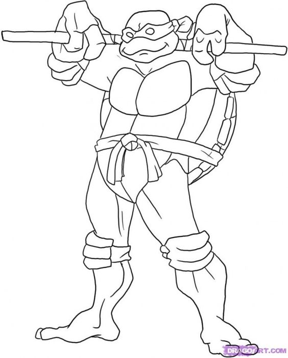 Draw Leonardo from Ninja Turtles