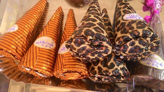 Cones trufados de leite ninho com nutella, brigadeiro, prestígio. Delícia de Arte.