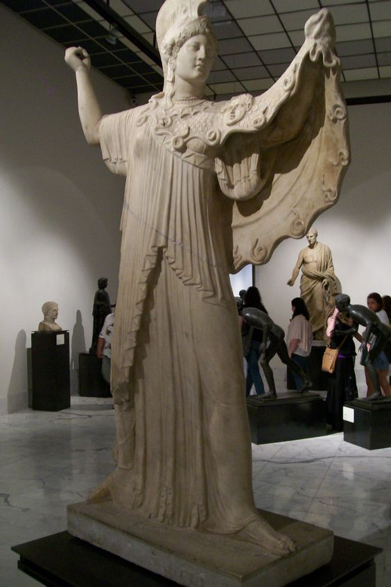 Statue of Athena from the Villa of the Papyri, Herculaneum: