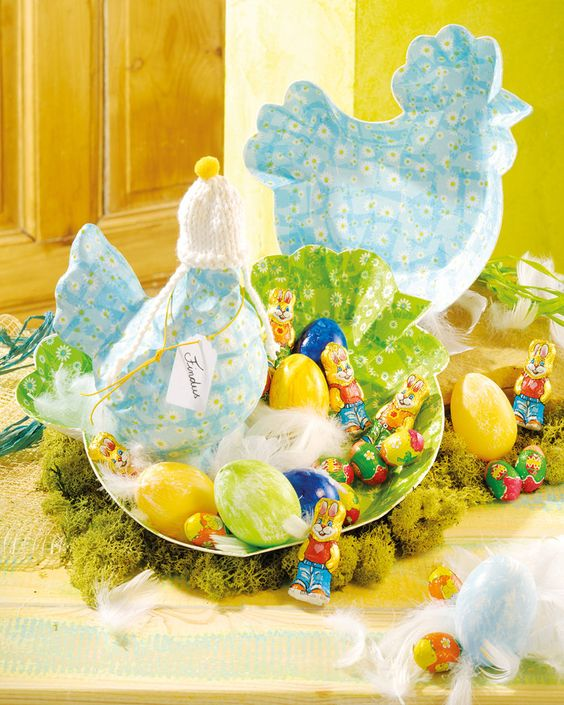 Osternest mit pappArt Figuren - creadoo.com