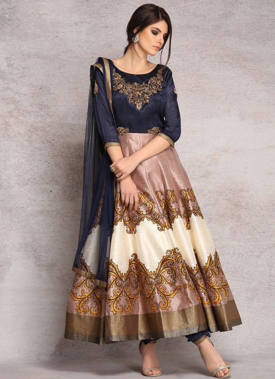LS-1418 - Navy - Suits - Ladies Wear - Diya Online | Indian Wear