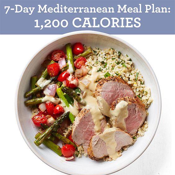 Mediterranean Style Diet Menu: Mediterranean Diet Meal Plan, Diet Meals And Mediterranean