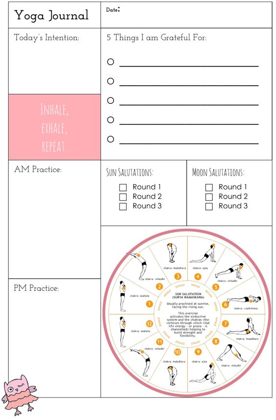 Plan It! Health Section: Part II – Yoga with Free Yoga Journal! | Return to Sender: Letters to the World