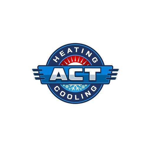 Act Heating And Cooling Attractive Hvac Logo Hvac We Service