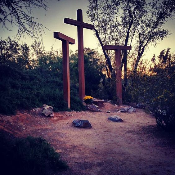 """I walked the stations of the Cross at an amazing place last night. They had meditations at each station and this one reached in and squeezed my heart. Maybe it will touch you too:  When Jesus appears impotent with His hands bound and He does not come to our aid He has a very special purpose. He is entreating us """"Do not lose your confidence in me now. Show Me your trust and faithfulness. When I do not come to your immediate aid and you cannot understand Me still have faith in me. Wait for Me…"""
