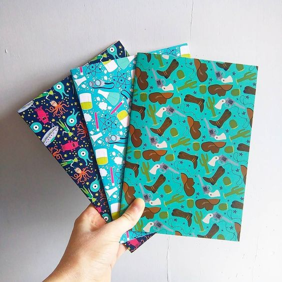 Ahhh look what just arrived! A5 Notebooks with 48 lined pages ready for your notes lists and scribbles! #awesomemerch #notebooks #newproduct #sneakpeek #illustration #creativebusiness